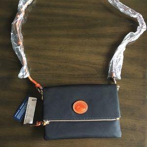 Black Dooney & Bourke crossbody flap bag
